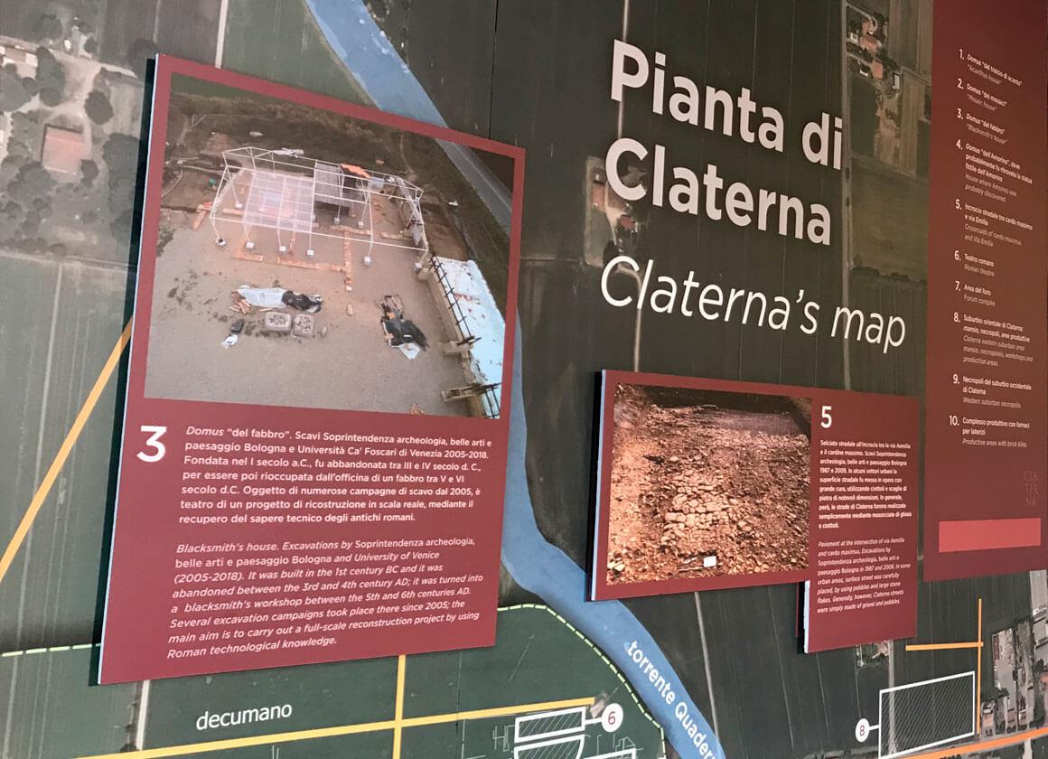 La mappa della Città Romana di Claterna