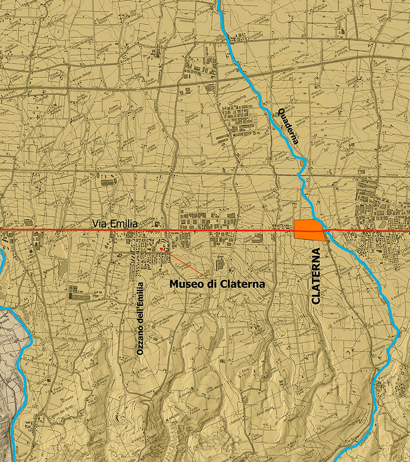 I dintorni dell'area archeologica della Città Romana di Claterna